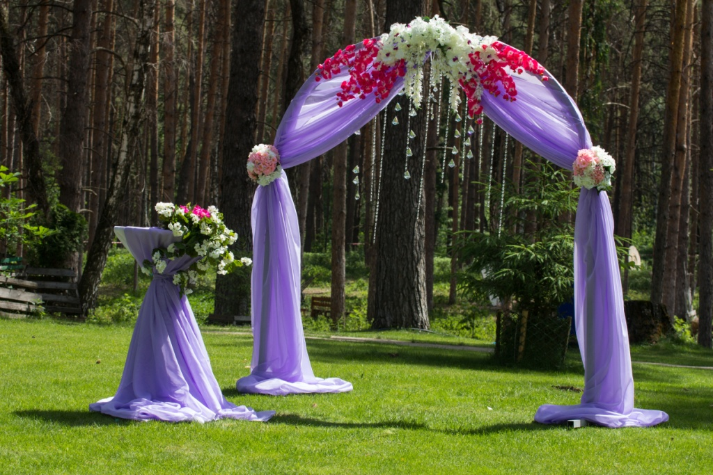 Indian Wedding Ceremony Arch Floral Arrangment 2